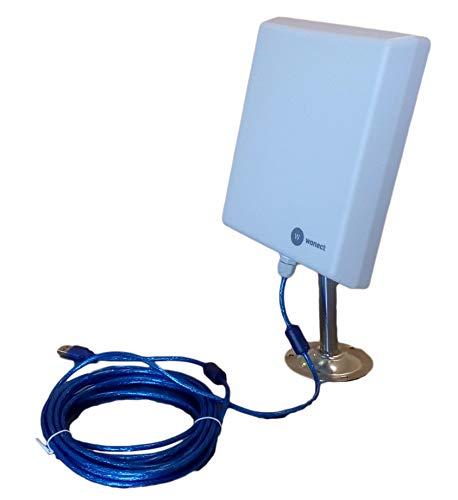 ANTENA WONECT EXTERIOR 5 METROS PANEL PLANAR 36DBI EXTERNA USB interno N4000 2000MW 2w 5 metros Auditoria. Fácil instalar. Compatible WiFislax, Beini, Backtrack. Largo alcance. Rompemuros. Recomendado uso exterior.Buena recepcion señal