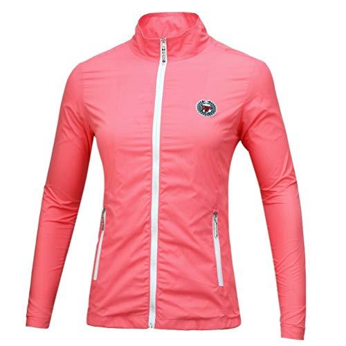 FD2LB1NVL Frauen Golf Shirt Damen Herbst/Winter Langarm T-Shirt Frauen Stehkragen Shirt Golf Kleidung Sportanzug Golf Top Coat, weich und atmungsaktiv (1,XL)