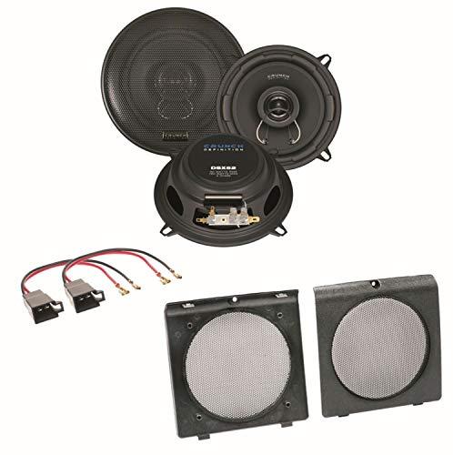 Crunch DSX52 2-Wege Koaxial Lautsprecher Boxen System Einbauset für Golf 2 vordere Türen