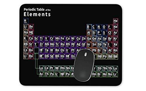 Alfombrilla de ratón antideslizante con base de goma para ordenador portátil y ordenador portátil, alfombrilla de ratón de 30 cm x 25 cm x 0,3 cm, tabla periódica de los elementos