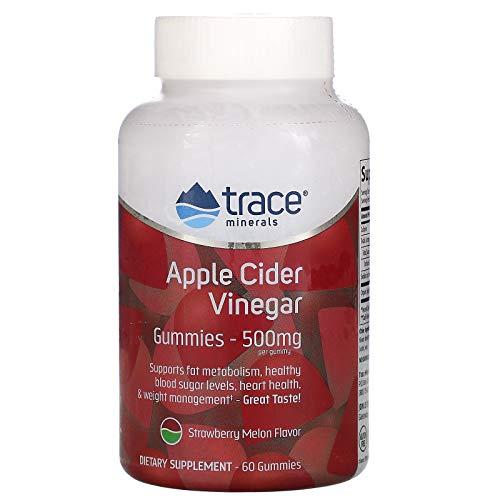 Trace Minerals Research Apple Cider Vinegar Gummies (500mg) Strawberry Melon 60 Gummy