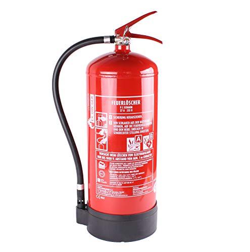 EXDINGER Feuerlöscher Schaum 9 L AB 9 LE mit Halterung Dauerdrucklöscher (GPN-9X Instandhaltungsnachweis von HausundWerkstatt24)