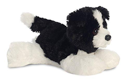 Aurora, 31717, Mini Flopsie Cami Border Collie, 20cm, Plüschtier, schwarz/weiß