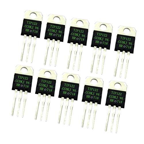 Ogquaton Premium Qualität 10 stücke TIP122 Darlington Transistor Halbleiterbauelement 5A / 100 V NPN