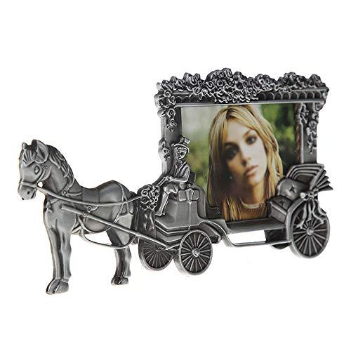 LifeX Los cuadros retros de la demostración de los cuadros de 5 pulgadas, vintage del coche del caballo de guerra del vintage toldo el marco de las fotos del metal con el vidrio de alta defini