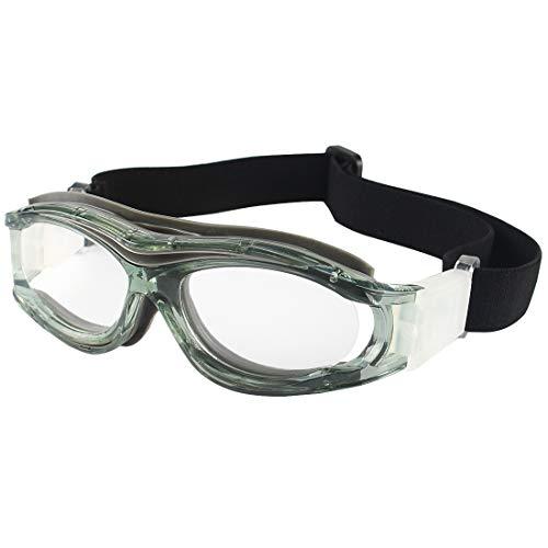 Andux Niños Baloncesto Fútbol Fútbol Deportes Gafas protectoras Gafas Gafas de seguridad para ojos LQYJ-04 (GRIS)