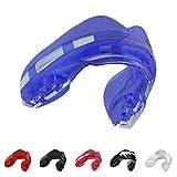 SAFEJAWZ Sport Protège-Dents pour Appareil Orthodontique. Protection intégrale pour Tous Les Sports, notamment Le Rugby, MMA, Hockey, Les Arts Martiaux et la Boxe (Bleue Glace)