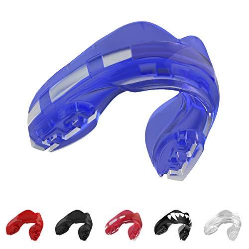 SAFEJAWZ, férula Protectora para aparatos dentales. Protector Bucal. para Todos los Deportes de Contacto, incluidos Rugby, MMA, Artes Marciales de Kickboxing, Judo, Hockey y Boxeo (Azul Heilo)