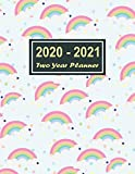 2020-2021 Two Year Planner: Blue Sky Rainbow White Cover Two Year Planner, Two Year Calendar 2020-2021, Daily Monthly Planner 2020 Size 8.5 x 11 Inch, ... Organizer, Logbook, Planner 2020-2021 daily