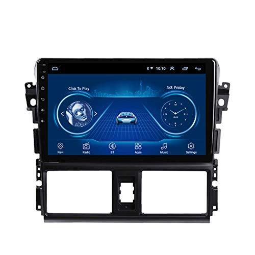 Dscam Car Stereo Android 9.1 Cuatro núcleos Coche Autoradio GPS Navegación para Toyota Vios 2014-2016 | 9 Pulgada | Pantalla LCD Táctil | 4.0 Bluetooth,2G+32G-Eight-Core