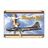 Oddss U.S. WW2 Vintage B-17 Memphis Belle Vintage Zeichen,