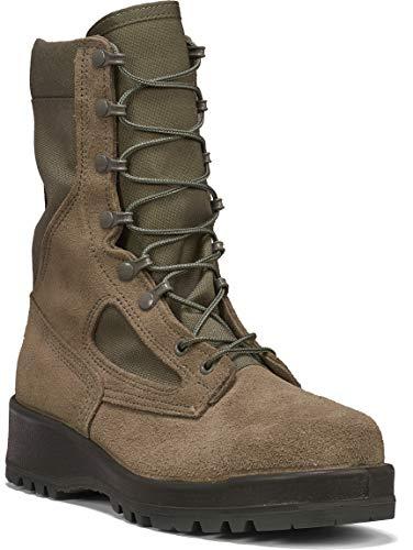 B Belleville Arm Your Feet Women's F600 ST Hot Weather Steel Toe Boot, Sage - 9 R