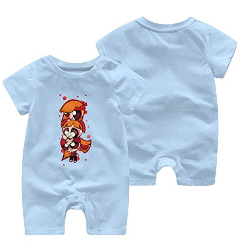 Funny Club Powerpuff Girls Comfortable and Cute Baby Onesie with Short Sleeves,0-3 Month