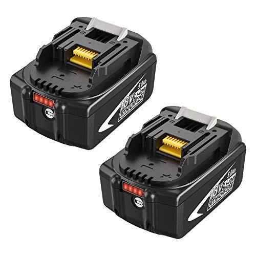 Boetpcr 2X BL1850B 18V 5.0Ah Ersatz Akku für BL1860B BL1860 BL1840B BL1840 BL1830B BL1830 BL1845 BL1835 LXT-400 197280-8 Werkzeugbatterien mit Indikator
