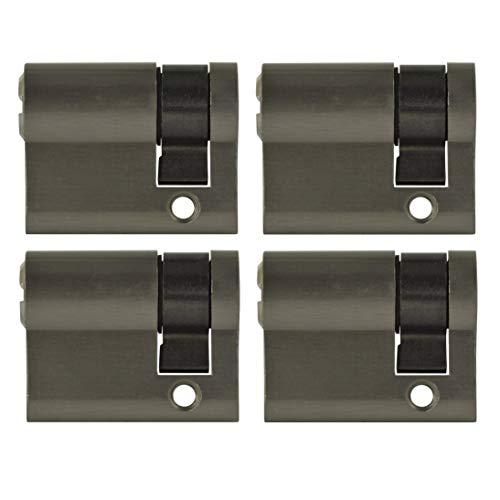 4x Halbzylinder 40 mm gleichschließend 30/10 inkl. 10 Schlüssel