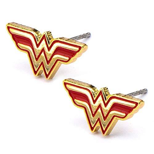 DC Comics Wonder Woman Logo Stud Pendientes