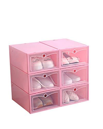 ZiXingA Schuhkartons Durchsichtiger Kunststoff Stapelbar, Multifunktionale Aufbewahrungsbox für Schuhe und Kleidung, Stapelbox mit Deckel...