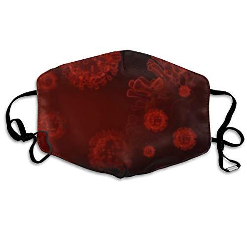 Reusable Fabric Bandana Face Breathable Skin Care Blood Dna Covid Coronavirus Coronavirus Structure Designer Custom Protection Large For Women Men