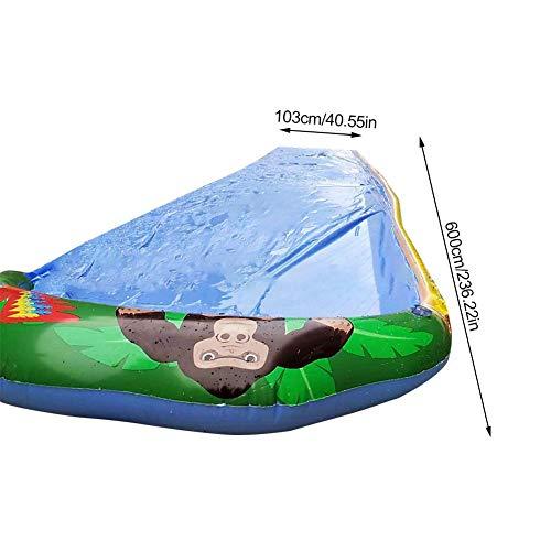 josietomy Tobogán de juguete para niños con diseño de hierba para el aire libre con protección contra colisiones, material de PVC, diversión acuática para niños y niñas