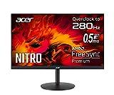 Acer Nitro XV252Q Zbmiiprx 24.5' Full HD (1920 x 1080) IPS Zero-Frame FreeSync Premium Gaming Monitor, DisplayHDR400, 99% sRGB, Up to 280Hz, Up to 0.5ms (Display Port & 2 x HDMI 2.0 Ports), Black