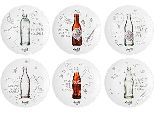 The Coca-Cola Coke Company Coca-Cola 6 Assiettes, Multicolore