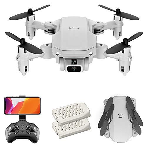 GoolRC LS- MIN Mini Drone con cámara 4K RC Quadcopter 13mins Tiempo de Vuelo 360 ° Flip Gesto Foto Video Pista Vuelo Altitud Control de Retención Remoto sin Cabeza para Niños Adultos (Gris,  2 Batería)