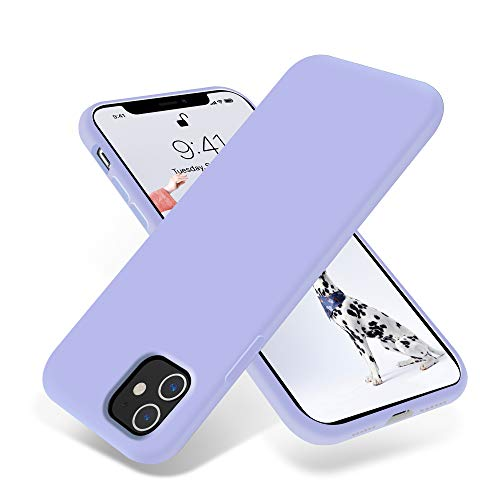 OTOFLY iPhone 11 Case,Ultra Slim Fit iPhone Case Liquid Silicone Gel Cover with Full Body Protection Anti-Scratch Shockproof Case Compatible with iPhone 11 (Light Purple)