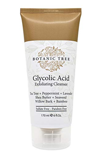 Botanic Tree Glycolic Acid Face Wash-Facial Exfoliating Cleanser w/ 10% Glycolic Acid-Acne Facial...