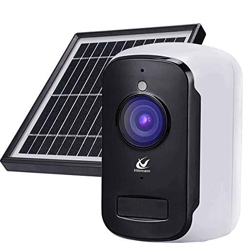 Videocamera di sicurezza a batteria ricaricabile ricaricabile senza fili, video 1080P con audio a 2 vie, visione notturna con rilevamento di movimento PIR (A2+)
