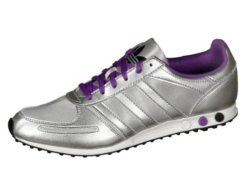 Adidas Originals L.A. Trainer Sleek - Scarpe da ginnastica, colore: argento/lilla, Argento (argento), 6 UK