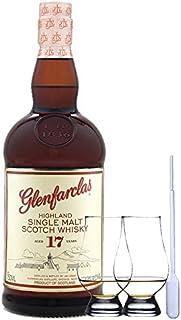 Glenfarclas 17 Jahre Single Malt Whisky 0,7 Liter 2 Glencairn Gläser  Einwegpipette 1 Stück