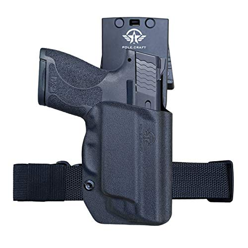MP Shield 9mm Holster OWB Kydex for Smith Wesson MP Shield 9mm 40 M20 with Integrated Laser MP Shield Holster OWB with Laser Outside Waistband Carry 15 2 Inch Belt Clip with Leggings