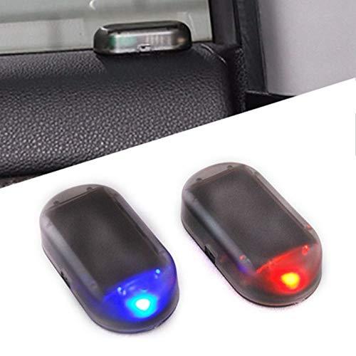 1 pz allarme led luce analogica allarme auto luce antifurto auto spia luce simulazione solare sicurezza ligh led lampeggiante luce di sicurezza con porta usb