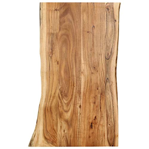 vidaXL Massivholz Tischplatte Baumkante Massivholzplatte Akazie 100x60x2,5 cm