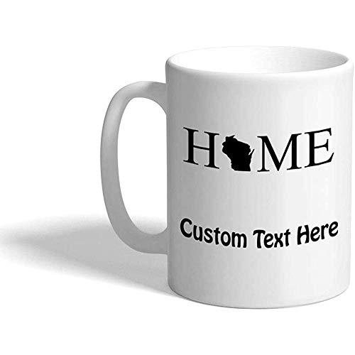 Taza de café personalizada 330 ml Inicio B Países Taza de té de cerámica Texto personalizado