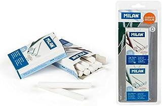 Blister 2 cajas 10 tizas blancas redondas MILAN