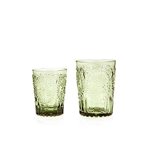 Wasserglas Trinkglas Saftglas Fleur de LYS Recycled Glas Fairtrade Ecoglas 300 ml (grün)