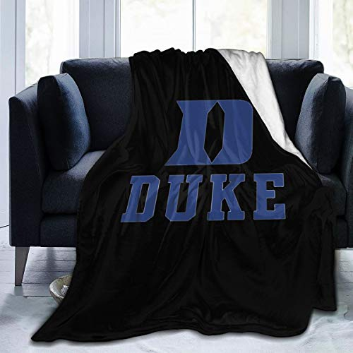 ZPH Duke University Super Soft Cozy Blanket for Sofa Couch Bed, Microfiber Flannel Luxury Blanket