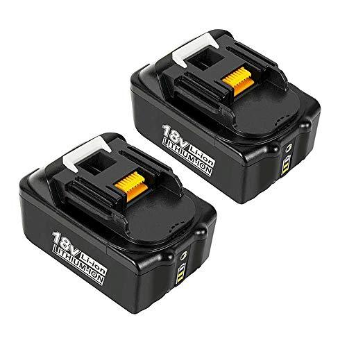 VANTTECH 2 Stück BL1850B Ersatzakku für Makita 18V 5,0Ah Li-Ion Akku Kompatibel mit Makita BL1850B BL1850 BL1860B BL1860 BL1840B BL1840 BL1830 BL1835 BL1845 194204-5 LXT-400 mit LED Indikator