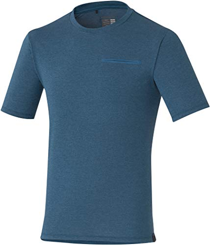 SHIMANO Camiseta M/C SH Transit, Hombre, Nav