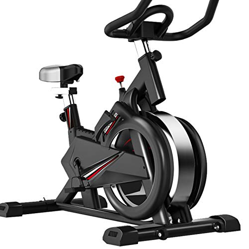 SUUUK Bicicleta Estática Profesional para Interiores, Aplicación Multijugador, Volante Cromado, Sistema De Transmisión por Correa Ultra Silencioso, Capacidad De Peso De 350 Libras