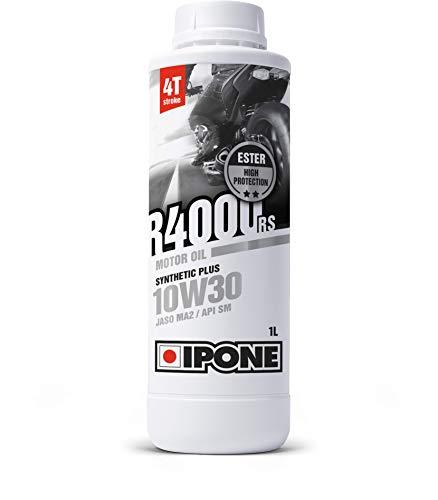 IPONE - Huile Moto 4 Temps 10W30 R4000 RS - Bidon 1 Litre - Lubrifiant Semi-Synthétique avec Esters - Haute Qualité - Résistance Exceptionnelle à l'Usure et Protection du moteur