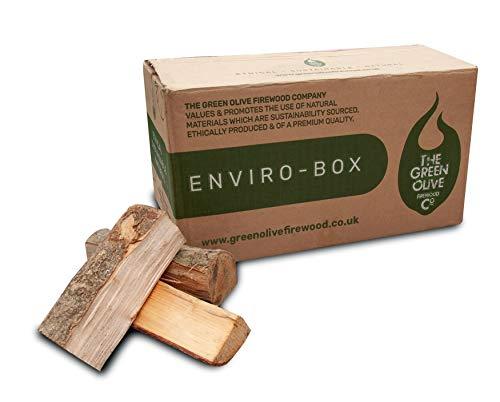 The Green Olive Firewood Enviro Box Kiln Dried Firewood Logs Il Legno Duro essiccato al Forno di Sussex registra Meno del 20% di umidità, Naturale