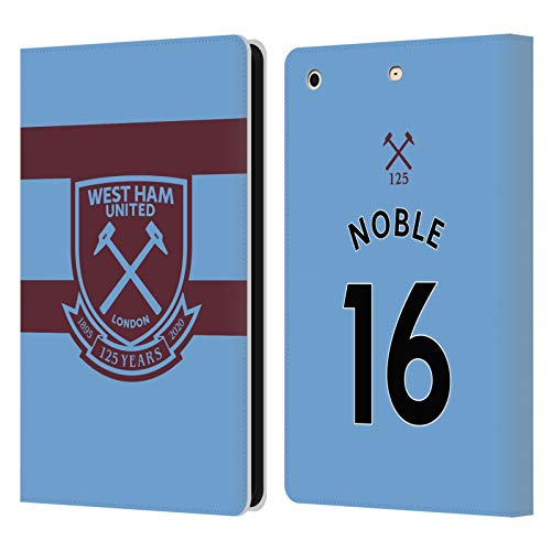 Official West Ham United FC Mark Noble 2020/21 Players Away Kit Leather Book Wallet Case Cover Compatible For Apple iPad mini 1 / mini 2 / mini 3