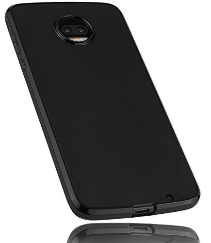 mumbi Hülle kompatibel mit Motorola Moto Z2 Force Handy Hülle Handyhülle, schwarz