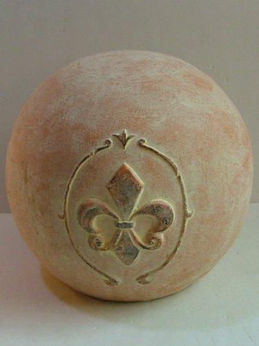 Bella-Vita Dapo Leuchten Deko-Kugel orange aus Keramik D18cm mediterran Gartendekoration Dekoration Geschenk
