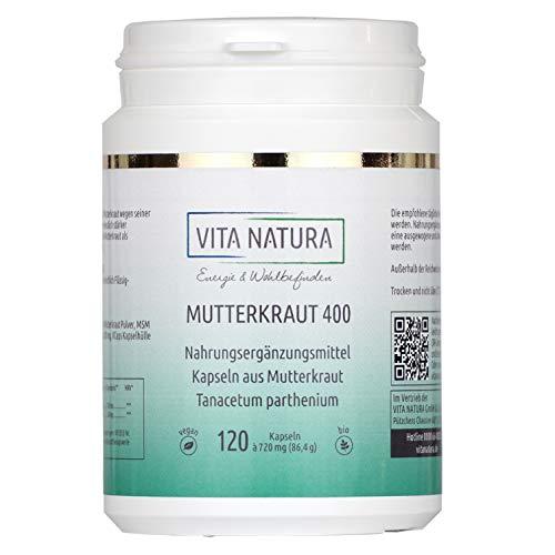 Vita Natura Mutterkraut 400 mg Vegikapseln, 1er Pack (1 x 120 Stk.)