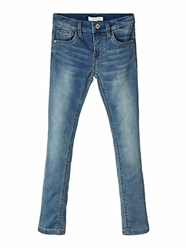 NAME IT Nkmtheo Dnmthayer 1166 Swe Pant Noos Jeans, Azul (Light Blue Denim Light Blue Denim), 125 (Talla del Fabricante: 110) para Niños