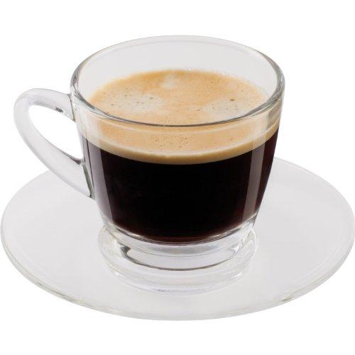 Glas-Kaffeetassenset 4-tlg. 2 Tassen / 2 Untertassen