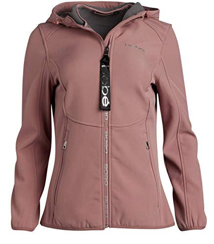 BEBE SPORT Women's Fleece Lined Soft Shell Jacket with Hood, Size Large, Mint/High Low'